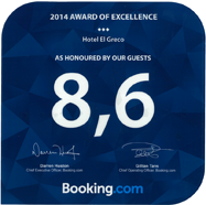 Award of Excellence Hotel El Greco